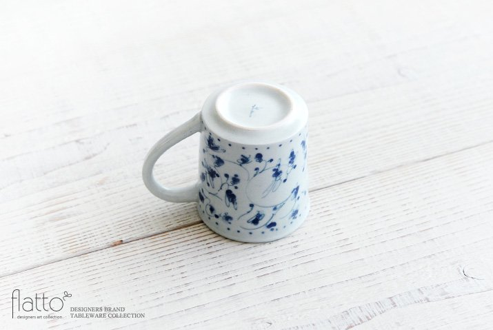 石井桃子|花唐草マグカップ(角・ドット)-04