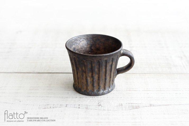 中川雅佳|金釉 しのぎマグカップ