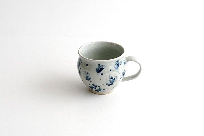 石井桃子|花唐草 マグカップ(壺)