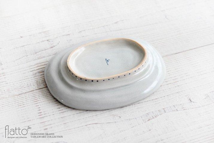 石井桃子|花唐草 オーバル皿-04