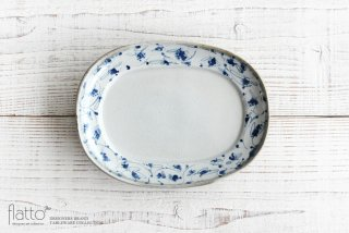 石井桃子|花唐草 オーバル皿|和食器