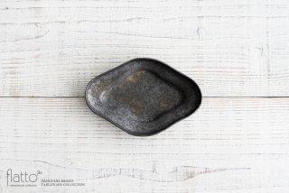 安福由美子|錆木瓜リム皿(小)