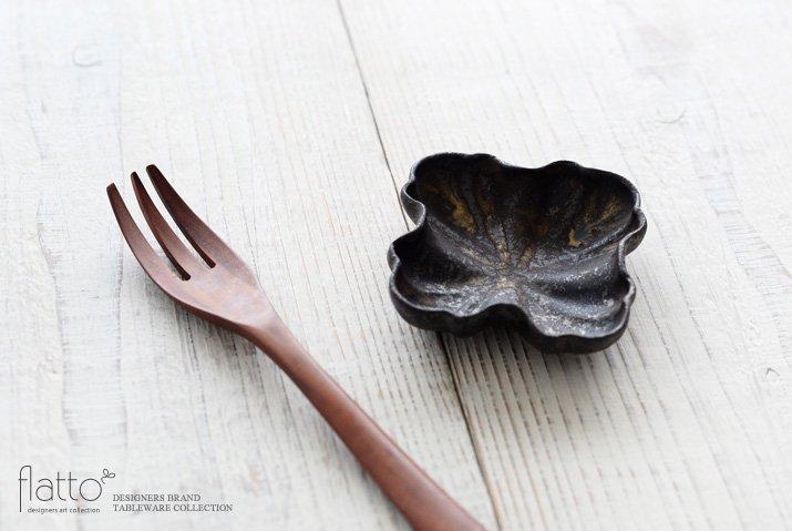安福由美子|錆フリル四方豆皿-02