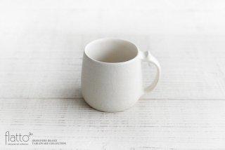 安福由美子|白マットマグカップ(寸胴)