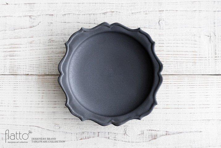 木下和美|黒釉yomoプレート(21cm)