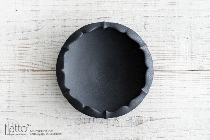木下和美 黒釉輪花鉢-蕾-(L)