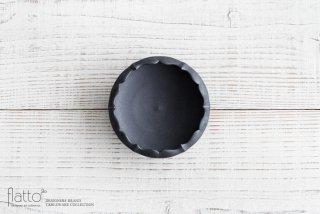 木下和美|黒釉輪花鉢-蕾-(S)