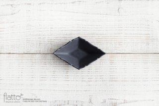 木下和美|黒釉ひし形豆皿