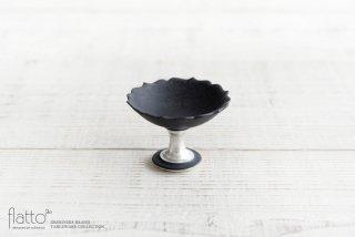 木下和美|黒釉銀彩豆コンポート