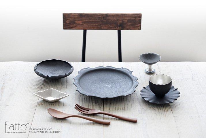 木下和美|黒釉銀彩 azamiカップ&ソーサー-03