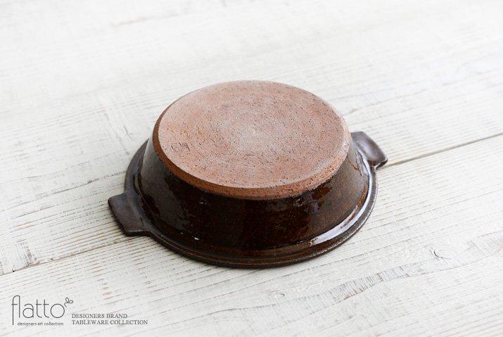 古谷浩一|飴釉耐熱 耳付グラタン皿 21cm-04