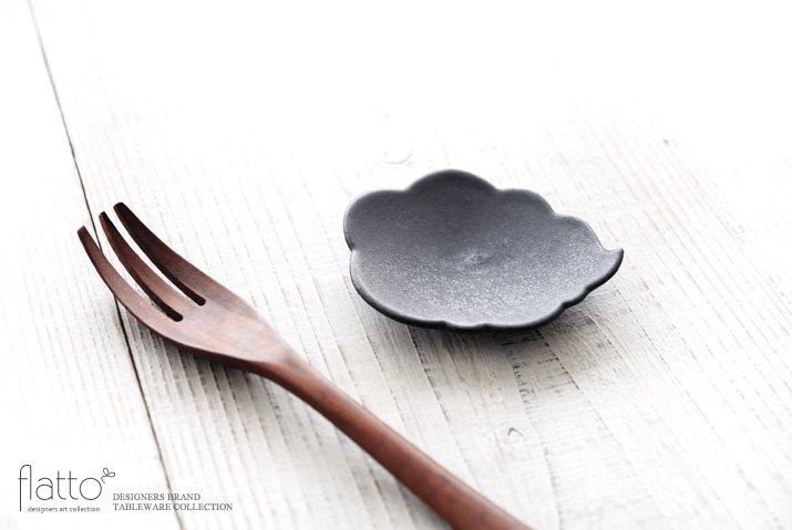 東一仁 ブラック ウンリュウ豆皿-02