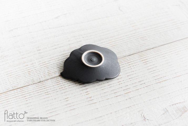 東一仁 ブラック ウンリュウ豆皿-04