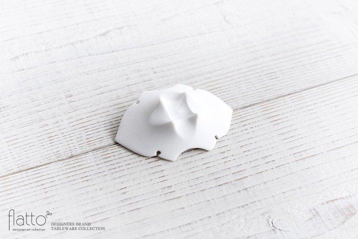 木下和美|白磁蝙蝠豆皿-04