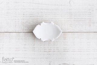 木下和美|白磁蝙蝠豆皿