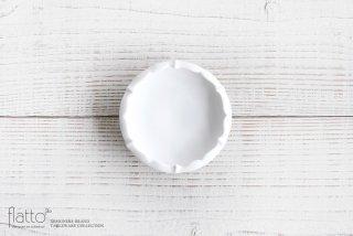 木下和美|白磁輪花鉢-蕾-(S)