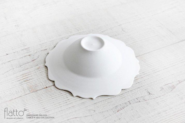 木下和美|白磁輪花ボウル-yomo-(L)-04