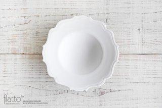 木下和美|白磁輪花ボウル-yomo-(L)
