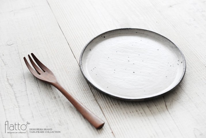 奥田章 ケーキ皿18cm(ひび)-02