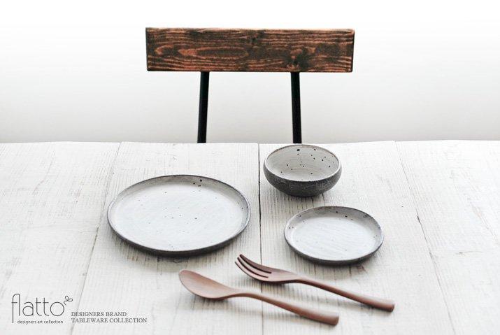 奥田章 ケーキ皿18cm(ひび)-03