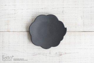 東一仁|ブラック ウンリュウケーキ皿(New ver)