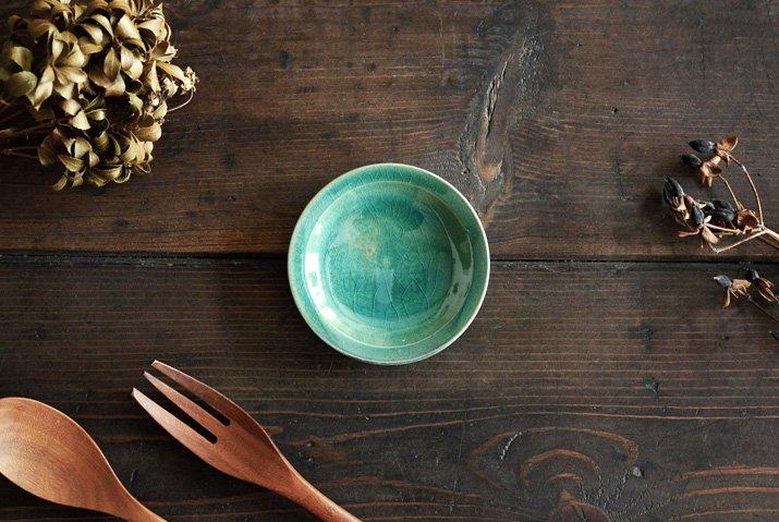 【WEB展示会】|市野耕|トルコブルー 3寸リム皿