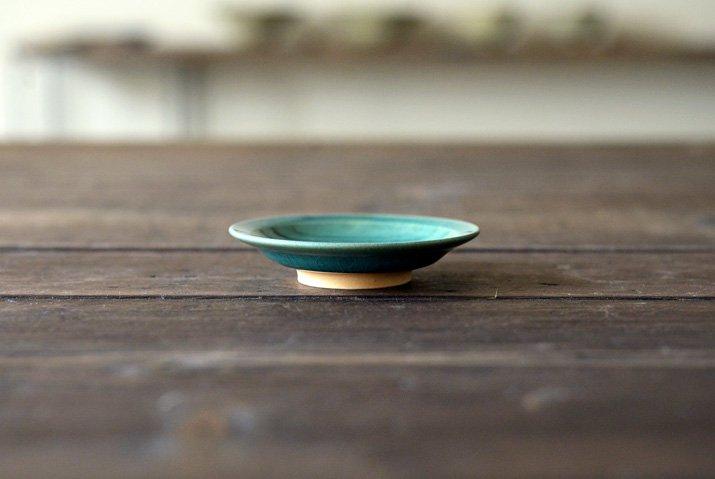 【WEB展示会】|市野耕|トルコブルー 3寸リム皿-03