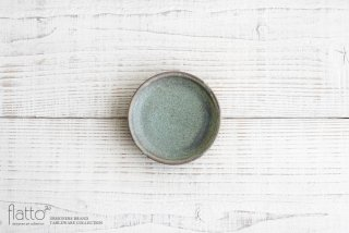 福井亜紀|10cm豆皿(緑砂)