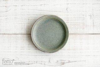 福井亜紀|15cm丸皿(緑砂)