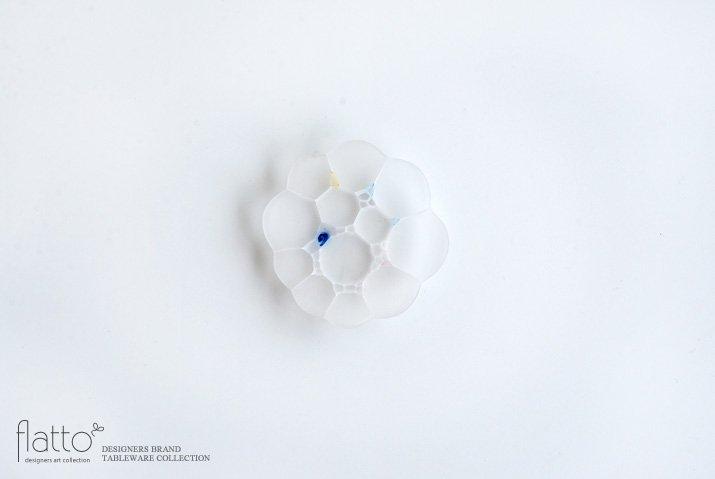 吉村桂子|イロアミプレート(陽だまり豆皿7cmマット・W)