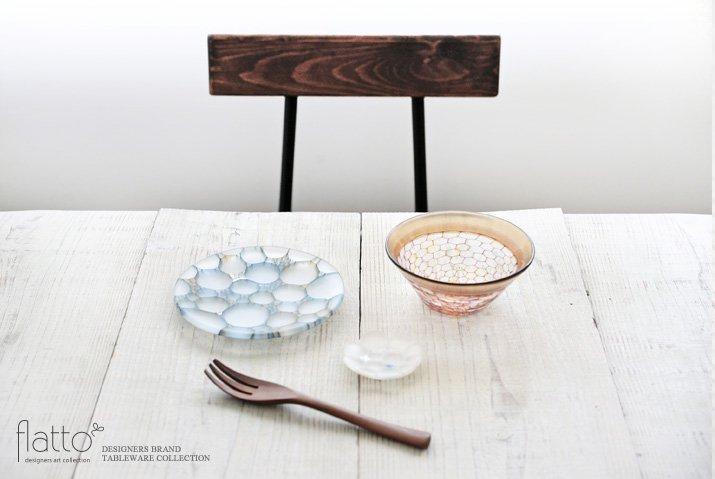 吉村桂子|イロアミプレート(陽だまり豆皿7cmマット・W)-03