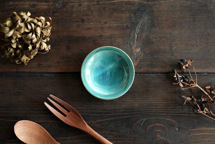 【WEB展示会】 市野耕 アトランティコブルー 3寸リム皿