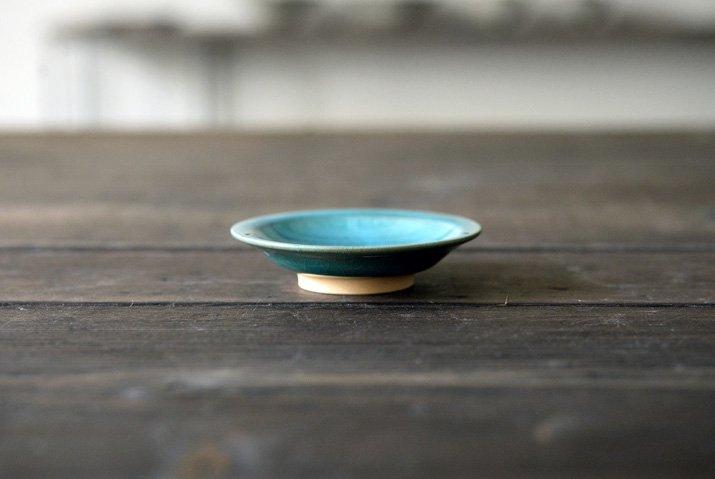 【WEB展示会】 市野耕 アトランティコブルー 3寸リム皿-03
