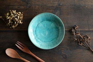 【WEB展示会】|市野耕|アトランティコブルー 6寸鎬皿
