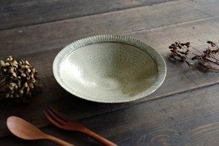 【WEB展示会】|市野耕|灰釉 7寸リム鎬鉢