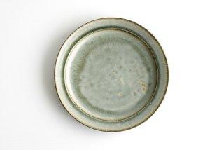 市野耕|彩色灰釉 8寸リム皿