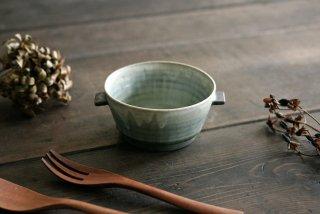 市野耕|彩色灰釉 スープカップ