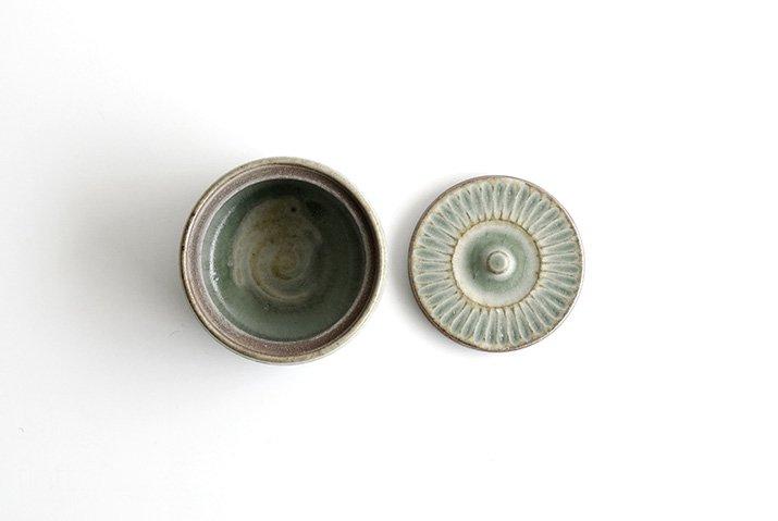 市野耕|彩色灰釉 フタモノ-03