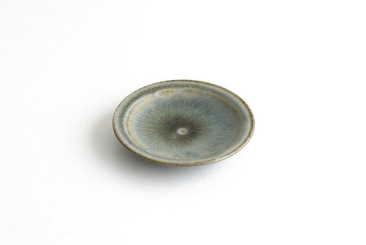市野耕|彩色灰釉 3寸リム皿-03