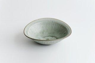市野耕|彩色灰釉 7寸楕円鉢