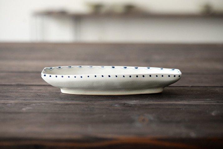 石井桃子|舟型皿(魚柄)-03