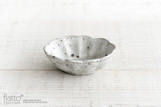加藤祥孝|グレー粉引 4.5寸楕円輪花深鉢