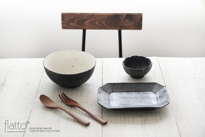 加藤祥孝|粉引/鉄釉 めん鉢-03