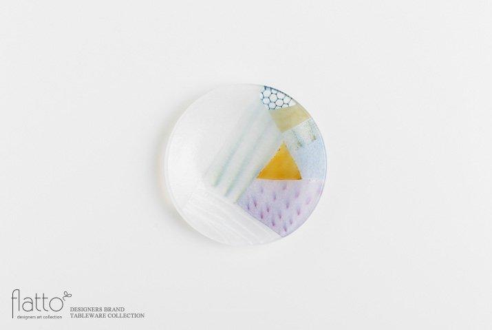 吉村桂子|ツギハギ丸皿(12cm)