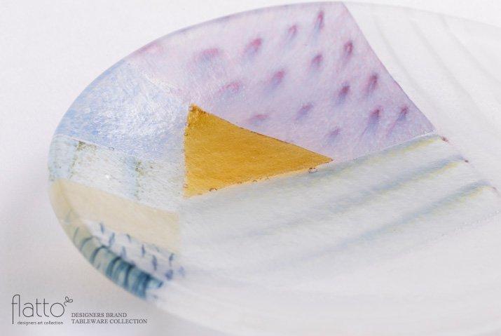 吉村桂子|ツギハギ丸皿(12cm)-02