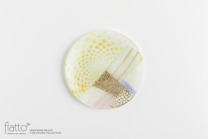 吉村桂子|ツギハギ丸皿(15cm)