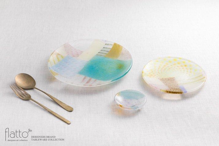 吉村桂子|ツギハギ丸皿(15cm)-04