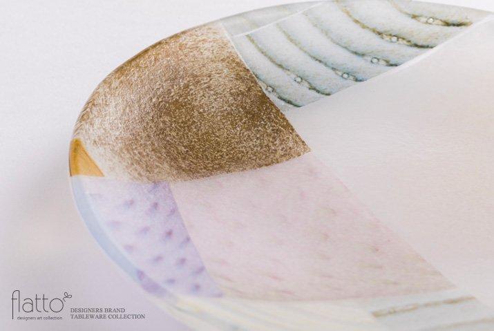 吉村桂子|ツギハギ丸皿(18cm)-02