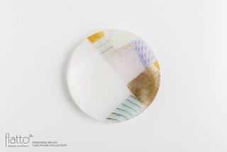 吉村桂子|ツギハギ丸皿(18cm)
