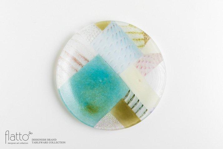 吉村桂子|ツギハギ丸皿(21cm)
